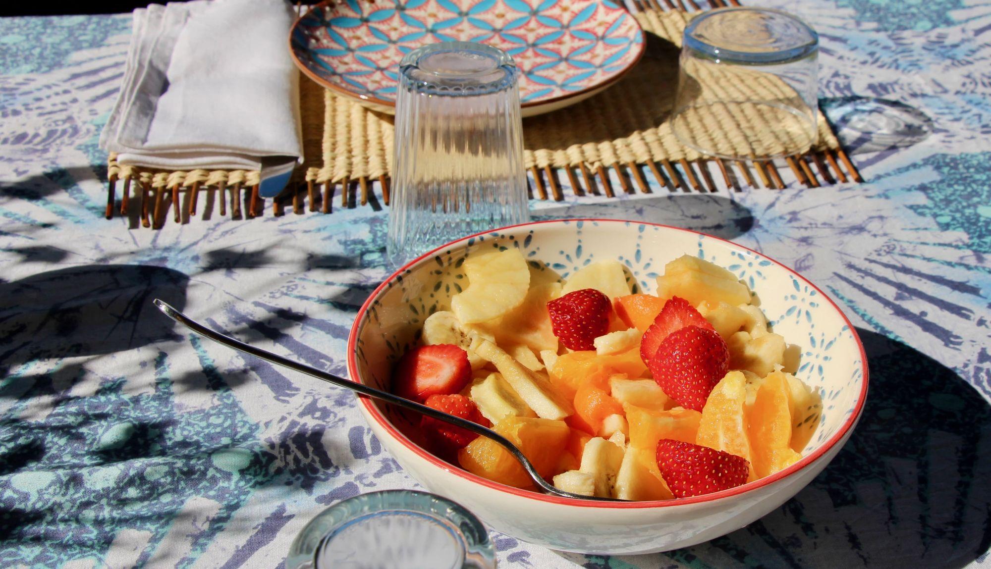 Petit-déjeuner en terrasse