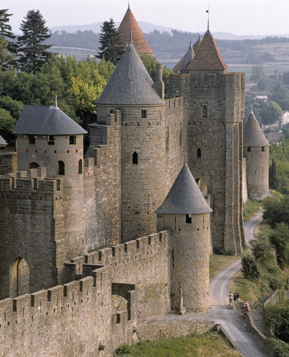 Front occidental de la Cité de Carcassonne