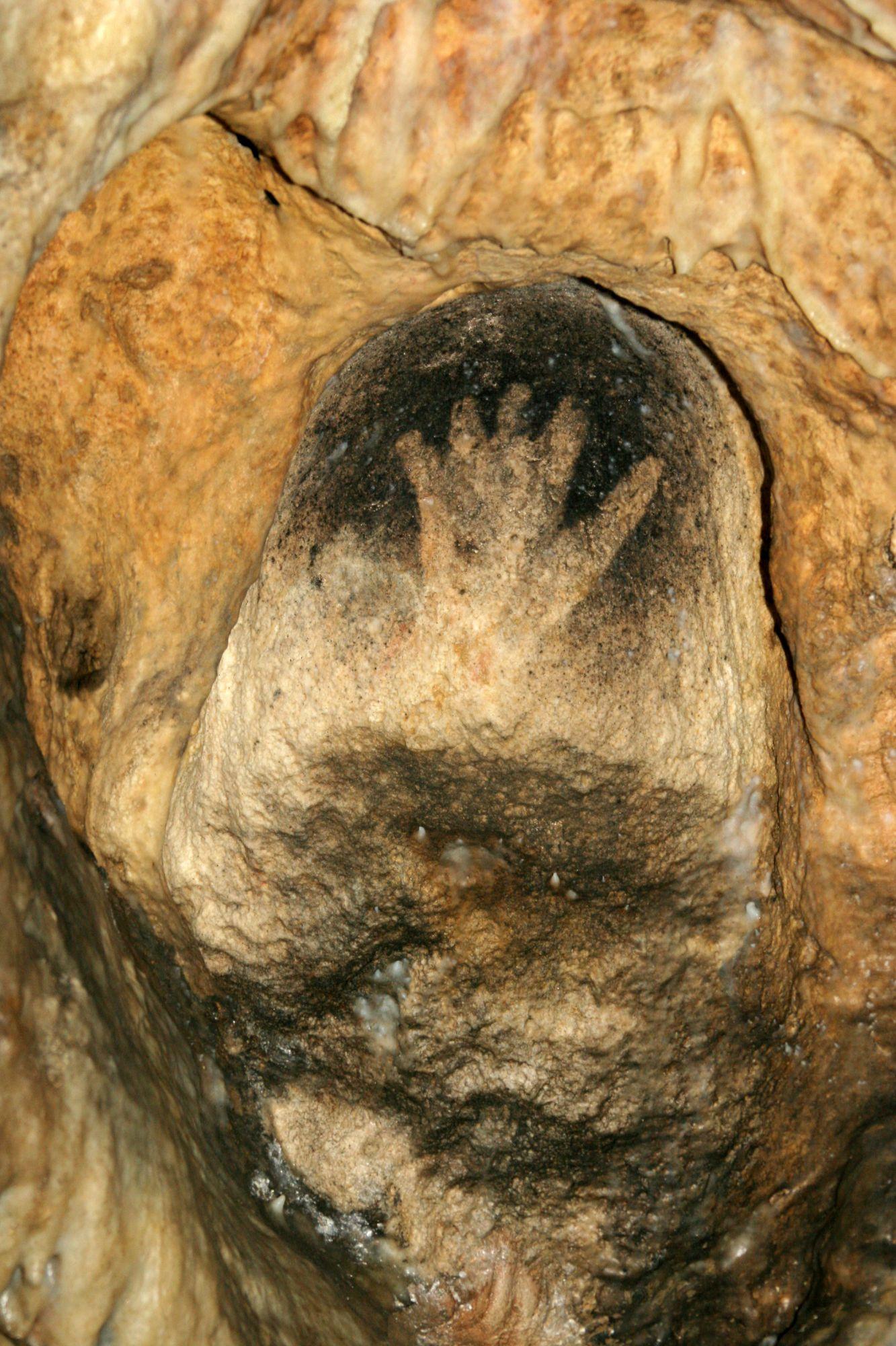 Main à la niche à la Grotte de Gargas - copyright Springinsfeld
