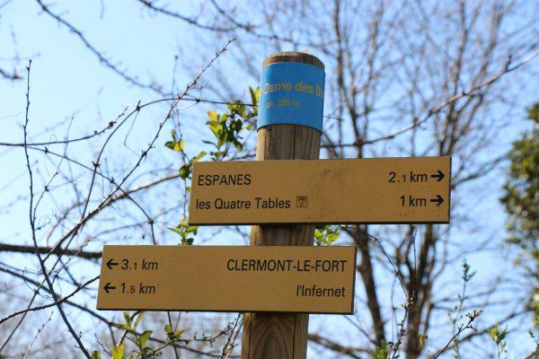 Randonner à Clermont-le-Fort