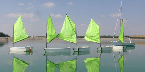 Voile au lac de la Ganguise