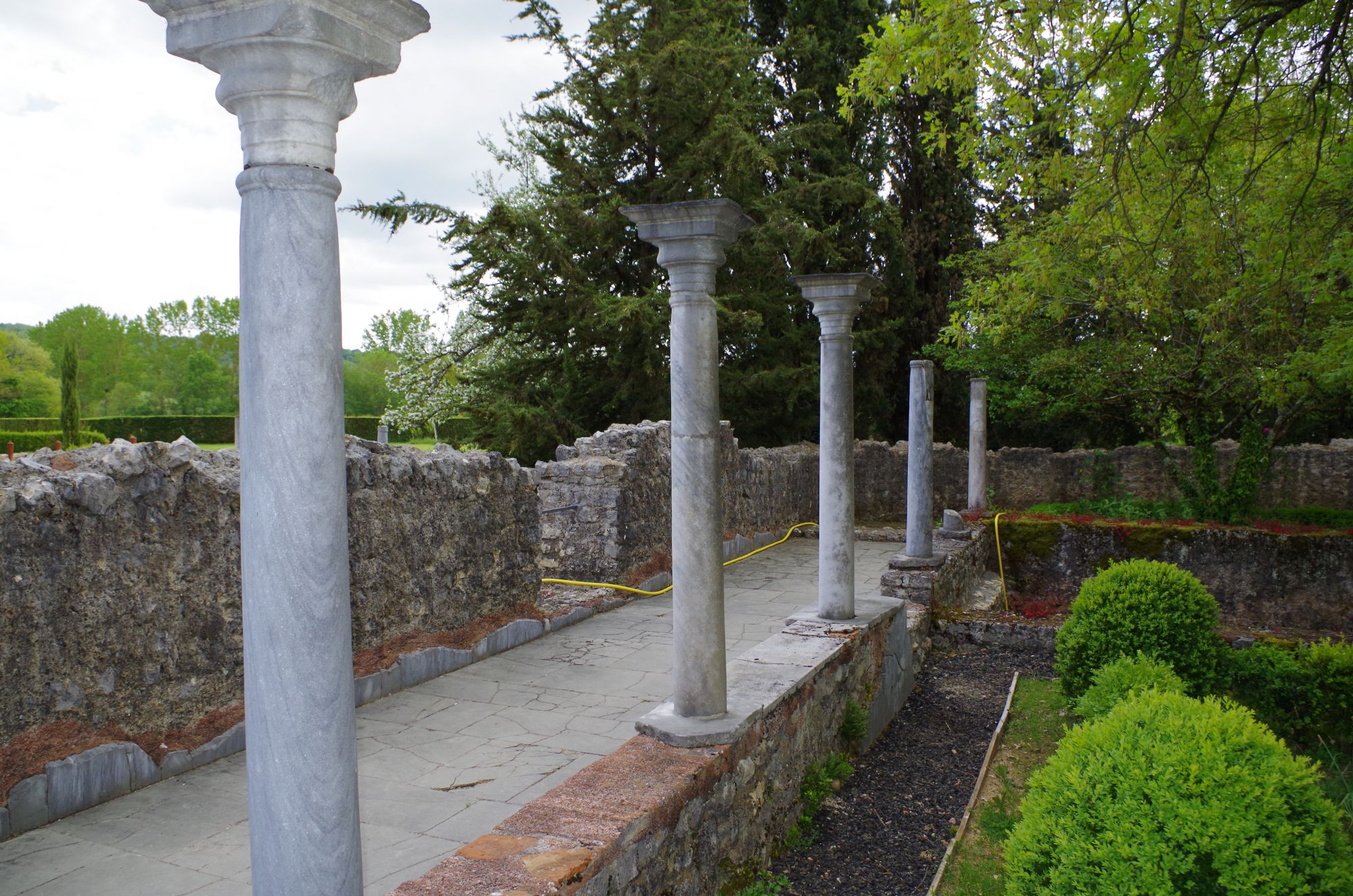 Colonnes de la Villa gallo-romaine de Montmaurin