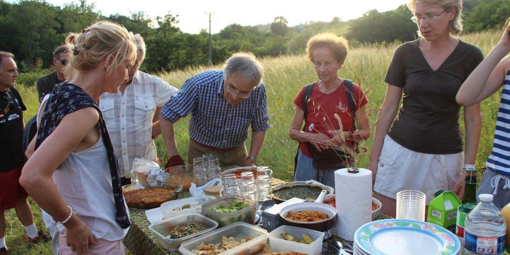 Diner dans la campagne