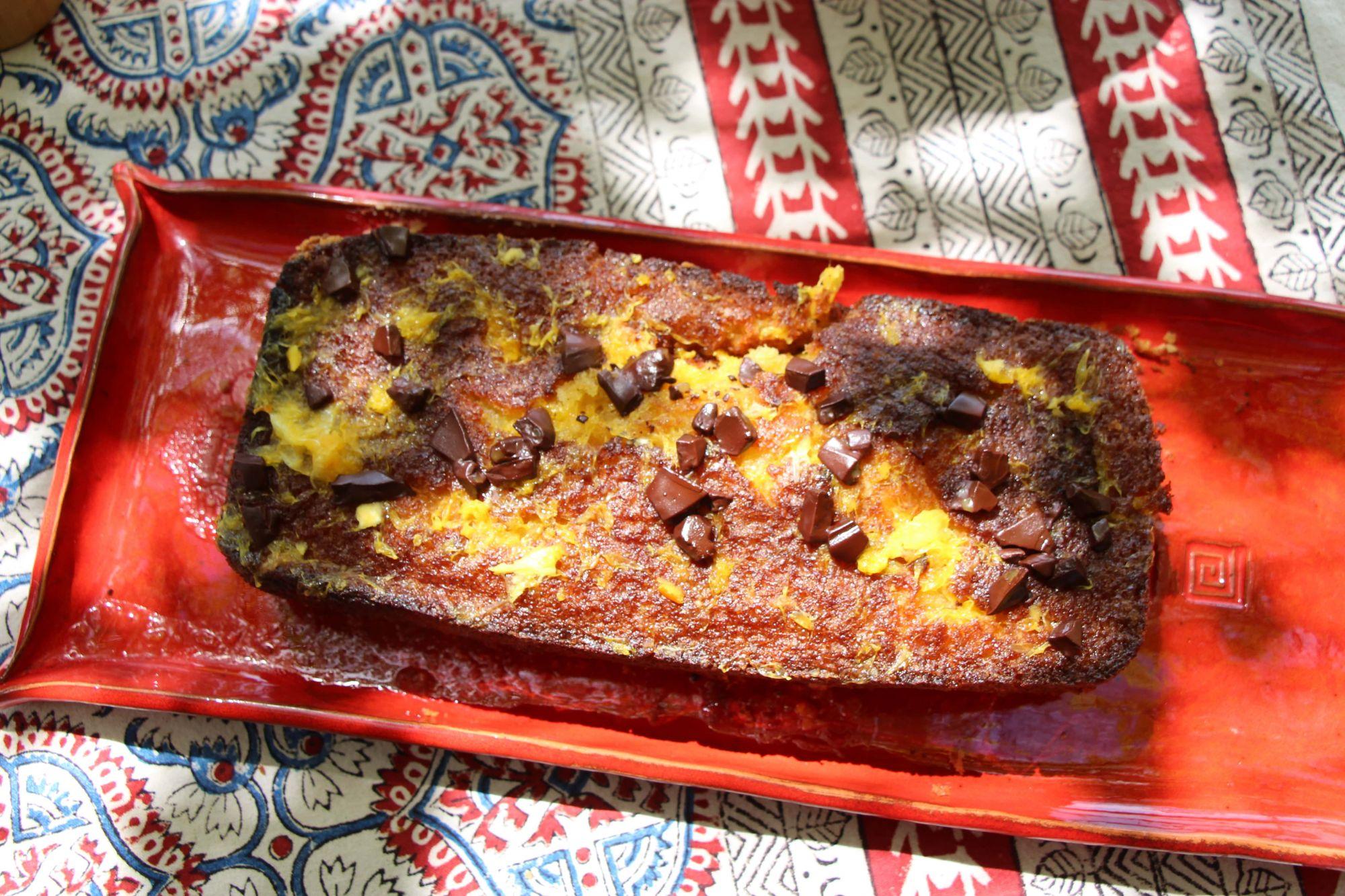 Gâteau à l'orange et aux pépites de chocolat