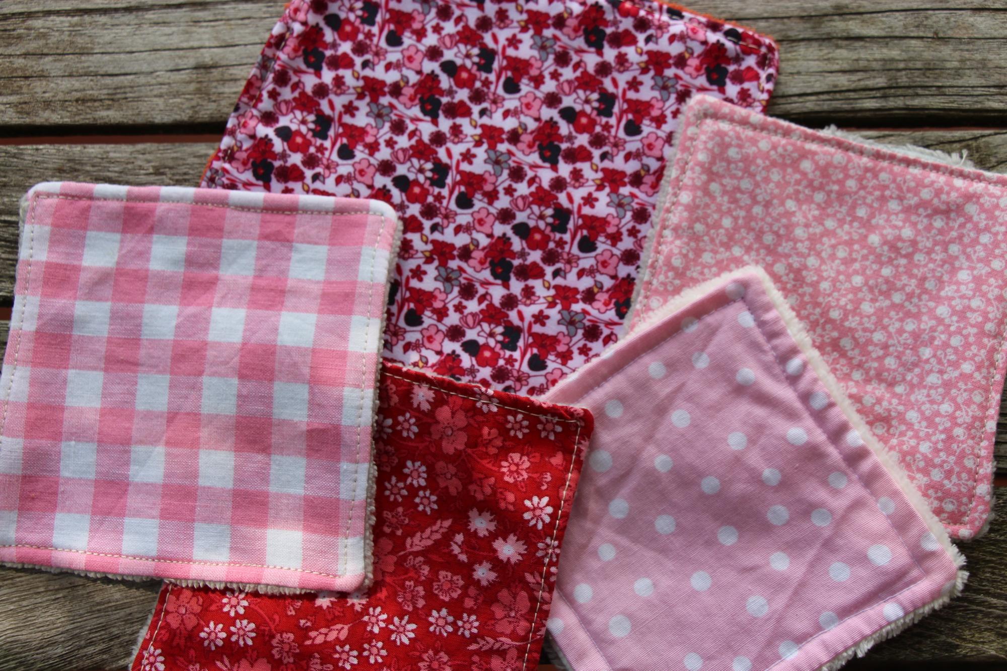 Lingettes en tissu recyclé